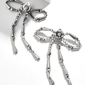 Baublebar Nicolette silver dangling bows